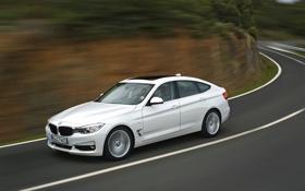 Обои белый, Авто, Дорога, BMW, Машина, Поворот, БМВ
