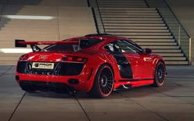 Картинка car, машина, Audi, red, tuning, задок, Prior-Design