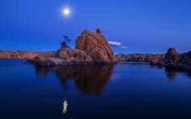 Картинка Watson Lake, Prescott, природа, скалы, озеро, Neutral Density, Arizona