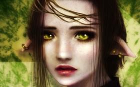 Обои арт, девушка, взгляд, глаза, лицо
