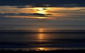 Картинка море, небо, солнце, гладь