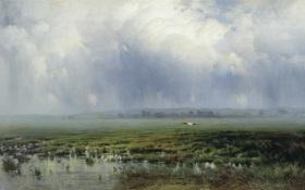 Обои Болото, Крыжицкий, картина