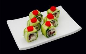 Обои суши, роллы, японская кухня, ролл