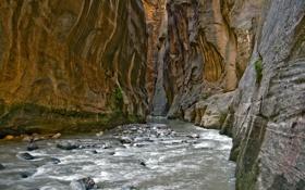 Картинка вода, река, камни, Горы, каньон