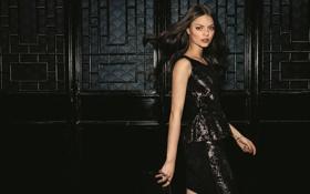 Картинка взгляд, модель, сумочка, черное платье, клатч, Sophie Edenhoeg