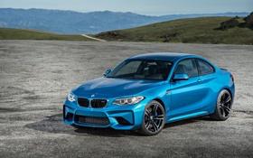 Обои бмв, купе, BMW, синяя, Coupe, F87
