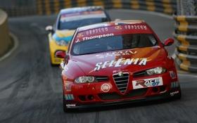 Картинка car, машины, красный, гонки, Alfa Romeo, автомобили, cars