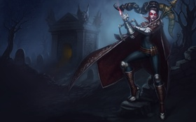 Обои LoL, The Night Hunter, Vayne