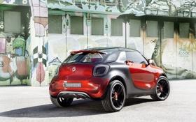 Обои Concept, красный, концепт, вид сзади, Смарт, Smart, Форстарс