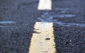 Картинка дорога, макро, разметка