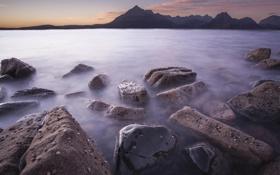 Картинка море, пейзаж, камни, скалы, берег
