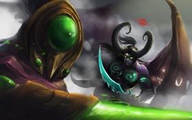 Картинка Warcraft, Blizzard, Demon Hunter, Heroes of the Storm, illidan stormrage, Betrayer, zeratul