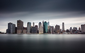Обои Manhattan, New York City, Long Exposure