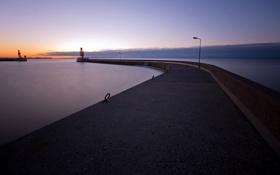 Картинка море, ночь, гавань