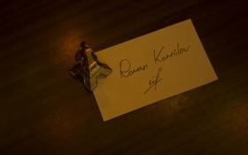 Обои париж, башня, эйфелева, подпись, автограф, свет, стол