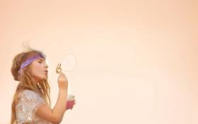 Обои настроение, девочка, пузырь