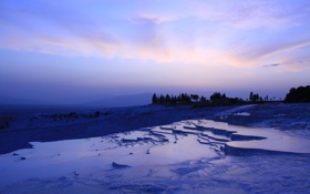 Картинка небо, горы, природа, обои, лёд, замёрзший водопад
