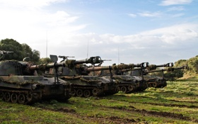 Обои поле, установки, (САУ), самоходные, M109, артиллерийские