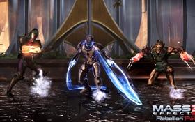"""Обои феникс, Mass Effect 3, дополнение """"восстание"""", Rebellion Pack, Ворка, Кварианец-инженер, планета Тессия"""