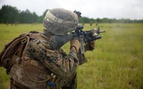 Обои солдат, United States Marine Corps, M16A4