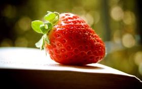 Обои клубника, ягода, книга