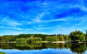 Обои Природа, Река, Лето, Пейзаж