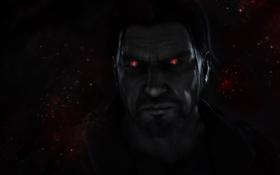 Обои звезды, мужчина, красные глаза, Starcraft 2, Jim Raynor