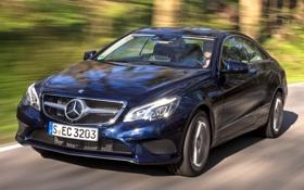Картинка машина, синий, обои, Mercedes-Benz, скорость, автомобиль, Coupe