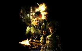 Картинка взрыв, игра, game, киберпанк, human revolution, deus ex, адам дженсен