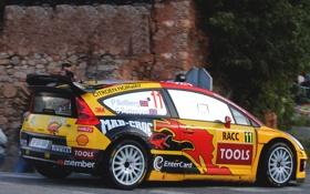 Обои Желтый, Спорт, Машина, Ситроен, Citroen, WRC, Rally