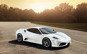 Картинка белый, white, wheels, ferrari, феррари, диски, f430