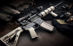 Обои Rifle, Weapon, Automatic, Larue Tactical, LT-15