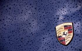 Обои капли, макро, синий, фон, логотип, тачки, эмблема