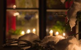 Обои зима, настроение, праздник, окно