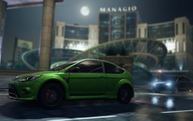 Обои NFS, 2012, Most Wanted, Need for speed, Ford Focus RS500, Audi A1 ClubSport Quattro