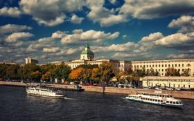 Картинка москва, река, набережная, Russia