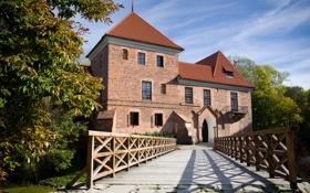 Картинка перила, кирпичный, Kutno, Кутно, Польша, Poland, замок