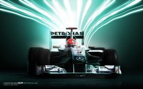 Картинка Mercedes GP, Michael Schumacher, Schumacher, Bolid, Formula-1