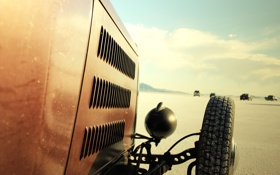 Обои race, mountain, usa, utah, desert, bonneville salt flats, vintage