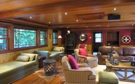 Обои дизайн, жилое пространство, вилла, дом, интерьер, стиль