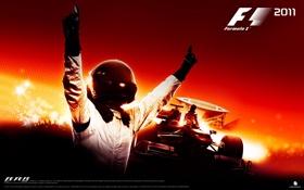 Обои формула 1, пилот, болид, F1 2011