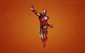 Обои красный, сталь, железный человек, marvel, комикс, iron man, тони старк