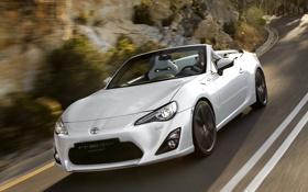 Обои 2013, Скорость, White, Cabrio, Тайота, Toyota, FT-86