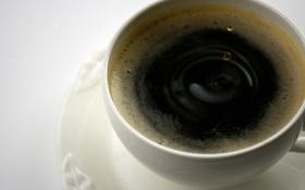 Обои капли, кофе, рябь, чашка
