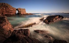 Обои море, волны, природа, скалы