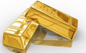 Картинка Металл, Gold, Золото, Слиток, Белый, Фон