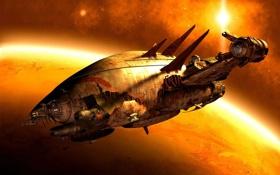 Обои светлячок, сериал, spaceship, planet, destruction, пожиратели