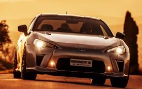 Обои свет, фары, Toyota, вид спереди, Marangoni, GT86-R, Eco Explorer