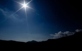 Картинка солнце, горы, фото, пейзажи, full hd, красивые обои для рабочего стола