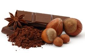 Картинка шоколад, орехи, какао, лесные, бадьян